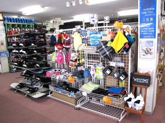 店舗内/スキー、スノーボード、手袋、帽子、ゴーグルなどお好きなものをお選びください